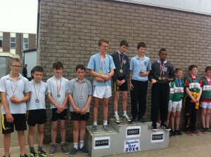 Deimo, Dion, Aaron and Jack who were 3rd in their relay.