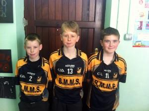 Bishop Murphy Football Skills Team - Ben Twomey, Jay Whelan and Jamie Wheeler
