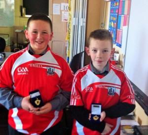 Munster Primary Schools Handball Champions Owen Hegarty and Hayden Supple.