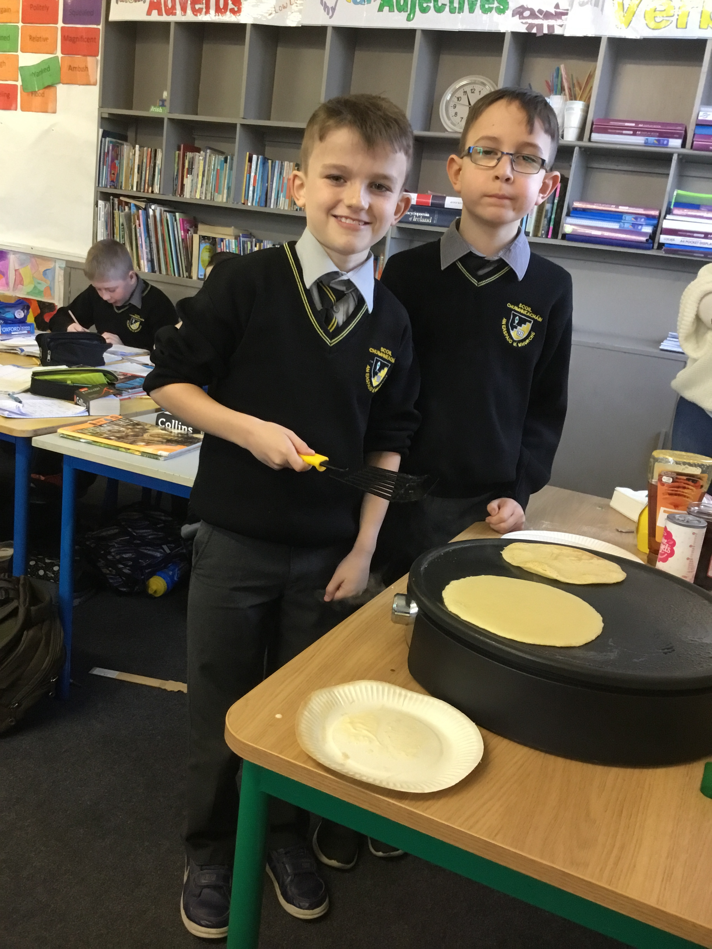 Happy Pancake Tuesday!( 3rd class)